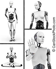 Robot woman collage nr 2.