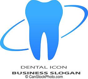 Tooth icon isolated on white