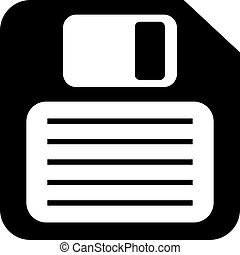 Floppy disk icon isolated on white