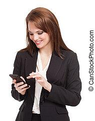 Attractive brunette businesswoman.