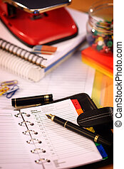 Office stationery close up shallow dof