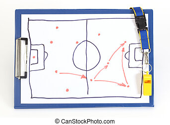 soccer tactical plan - Clipboard with soccer tactical plan...