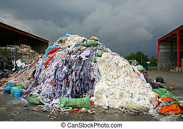 waste material on a stormy background in Germany