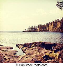 hermoso, norteño, paisaje