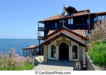 Old church in the ancient city of Sozopol in Bulgaria