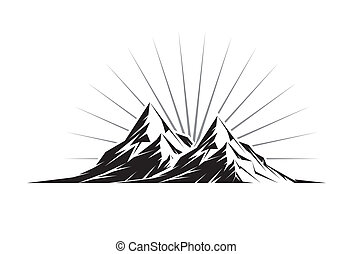 Twin Peaks - Illustration of two mountain peaks as a...