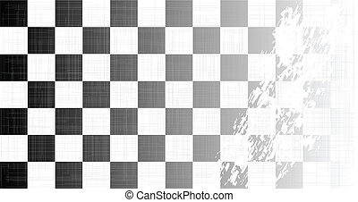 Chequered Flag Grunge - A racing chequered flag faded with a...