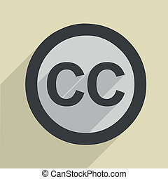 Creative Commons Icon - minimalistic illustration of a...