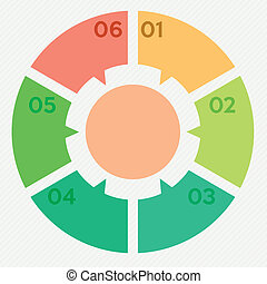 circle infographic 6 steps