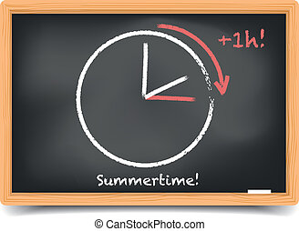 daylight saving summer - detailed illustration of a...