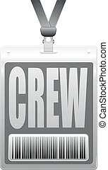 crew badge - detailed illustration of a plastic crew badge...