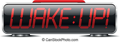 alarm_clock_wakeup_02 - detailed illustration of a digital...