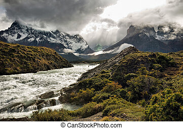 Looking towards the torres del paine