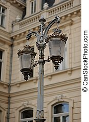 streetlight - urban architecture building in the background...