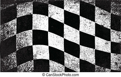 Dirty Chequered Flag - A dirty grunge fx chequered race flag