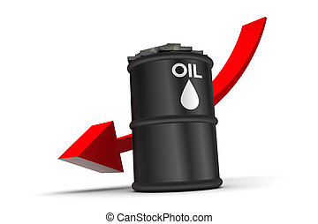 Oil Price Down Trend - Oil price down trend illustration...