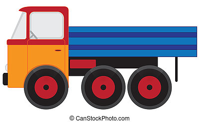Toy car - Illustration of the toy car on white background