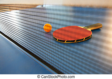 Table tennis racket and ball - Table tennis racket and...