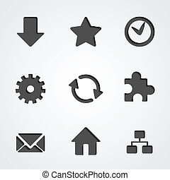 Vector internet icon collection - Popular internet vector...