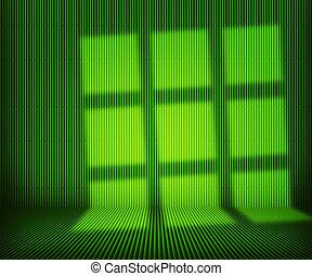 内部, 竹, 緑
