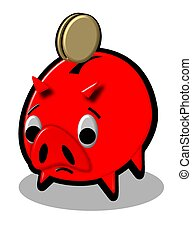 piggy bank red