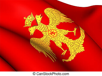 Byzantine Eagle, Flag of Palaiologos Dynasty. Close Up.