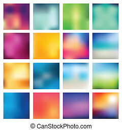 Abstract blurred (blur) backgrounds. - Set of abstract...