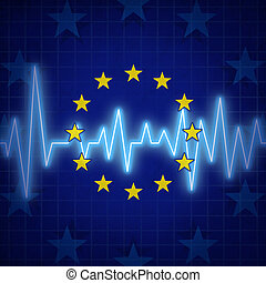 Europe Crisis - Europe crisis concept and European union...