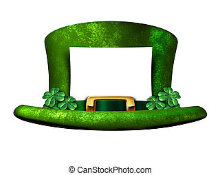 Shamrock Hat Blank Sign - Shamrock hat blank sign belonging...