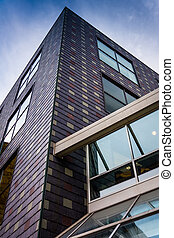Modern office building in Harrisburg, Pennsylvania. - Modern...