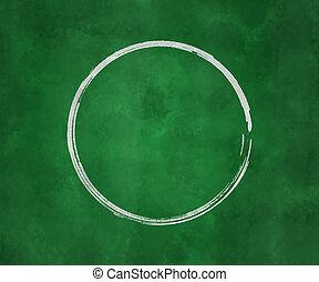 Circle on Green Chalk Board