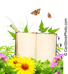 Book of nature Isolated on white background