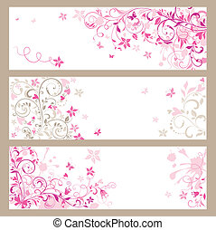 Beautiful pink horizontal banners