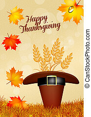 Happy Thanksgiving - illustration of Thanksgiving day