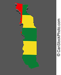 Map of Togo 3d