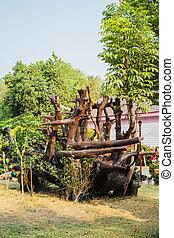 trocken, kleingarten, tot