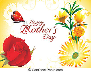 abstract mother day background vector illustration