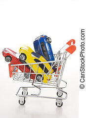 compras, para, coches