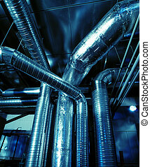 Industrial zone, Steel pipelines and ducts - Industrial...