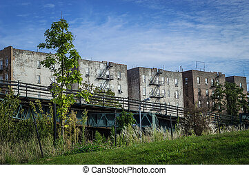 Old Buildings Bronx - Some old apartment buildings across...