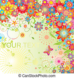 Colorful summery card