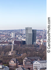 View towards St. Pauli - View over the St. Pauli area in...