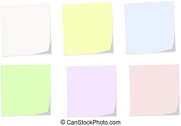 Soft colors notes on a white background - Soft colors notes...
