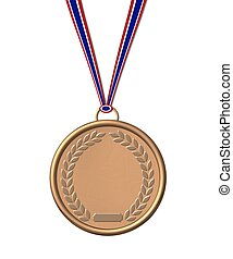 isolated bronze medal