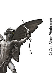 Piccadilly Circus - The famous angel statue of Piccadilly...