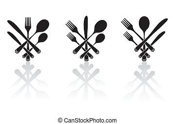 Three cutlery