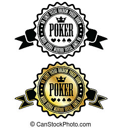 Poker room sign - Two poker room signs eps10