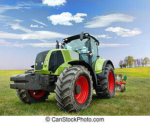 Tractor - New big tractor on the field