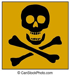 poison warning skull