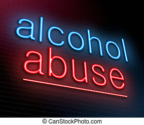 Alcohol abuse concept. - Illustration depicting an...
